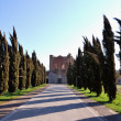 The path to the Abbey of San Galgano - Stock Photo