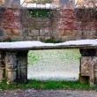 The altar of the Abbey of San Galgano - Stock Photo