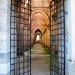 Entrance to the Abbey of San Galgano - Stock Photo