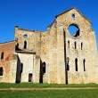 The ruins of San Galgano Abbey (Tuscany) - Stock Photo