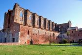 De ruïnes van San Galgano Abdij (Toscane) — Stockfoto