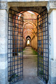 Entrance to the Abbey of San Galgano — Stock Photo