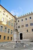Piazza Salimbeni (Siena) — Stock Photo