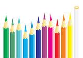 Dozen of coloured pencils — Stock Vector