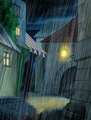 Pouring rain — Stock Photo