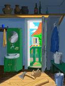 Mieszkania od biednych cieśla — Zdjęcie stockowe