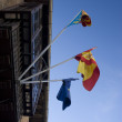 Spainish flags — Stockfoto
