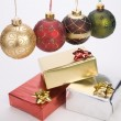 Christmas decoration balls — Stock Photo