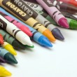 Stock Photo: Multi coloured crayons
