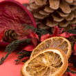 Mandarin,Cloves & Cinnamon pot pourri — Stock Photo #3129874
