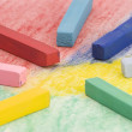 Multi coloured Chalks — Stock Photo