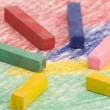 Multi coloured Chalks — Stock Photo