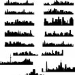City skylines collection - Vettoriali Stock 