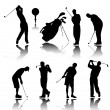 Golfers silhouettes — Stock Vector #2686905