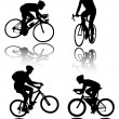 Bicyclists silhouettes — Stock Vector #2686941