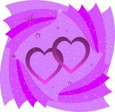 Valentine's day template — Vector de stock