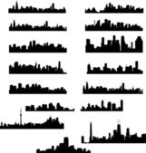 City skylines collection — Vettoriale Stock