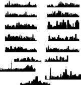 Collection de paysages urbains ville — Vecteur