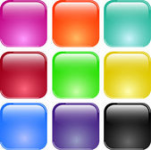 Colorful shiny glass buttons — Stock Vector