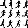 Children running - Image vectorielle