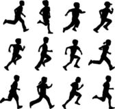 Children running — Stockvector
