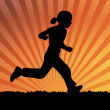 Girl running — Vettoriali Stock