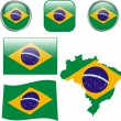 Stock Vector: Brazil buttons