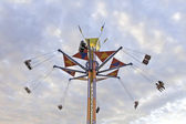 Tower Swing Ride in the Evening — Stock Photo
