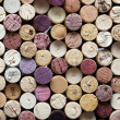 Stock Photo: Panoramic close-up of wine corks