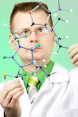 Young chemist — Stock Photo