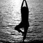 oração de yoga — Foto Stock