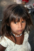 Hopeful Poor Indian Girl — Stock Photo