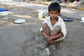 Streetside Indian Kid — Stock Photo