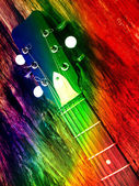 Colorful Guitar — Stock Photo