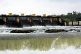 Dam Flood Waters — Stock Photo