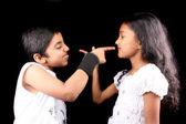 Rival Siblings — Stock Photo