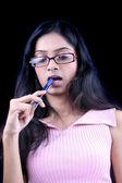 Studying Teenage Girl — Stock Photo