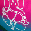 Royalty-Free Stock Photo: Colorful Ganesha Rangoli