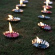 Stock Photo: Diwali Lamps Lawn