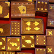 Ethnic Gambling Boxes - Stock Photo