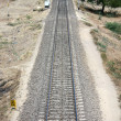 Long Railway Track - Stock Photo