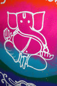 Colorful Ganesha Rangoli — Stock Photo