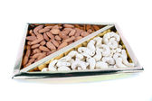 Cashews & Almonds Box — Stock Photo
