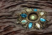 Jeweled Fabric — Stock Photo