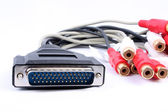 Serial Port Music Cable — Stock Photo