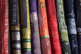 Tecidos indianos tradicionais — Fotografia Stock
