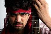 Angry Indian Guitarist — Stock Photo