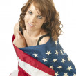 Fourth of July Patriotic Girl — Stock Photo