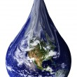 Earth as a teardrop - Stock Photo