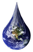 Earth as a teardrop — Stock Photo